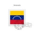 Venezuela Flag Postage Stamp vector image