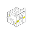 warehouse building in isometric projection vector image