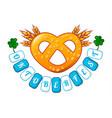 welcome oktoberfest icon cartoon style vector image vector image
