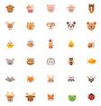 Animals icon set Part one vector image