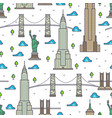new york bridges skyscrapers seamless pattern vector image