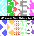 10 Retro Patterns Textures Set 9 vector image vector image