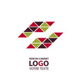 abstract linear logotype wave flow logo symbol vector image vector image