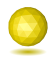 Abstract yellow low polygonal sphere vector image vector image