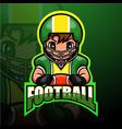 american football player esport logo design
