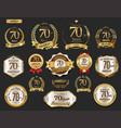 anniversary golden laurel wreath and badges 70