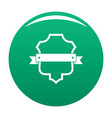 badge guardian icon green vector image vector image