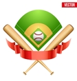baseball leather ball and vector image vector image