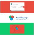beautiful circles logo and business card vertical vector image vector image