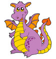big purple dragon vector image