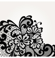 Black lace corner vector image vector image