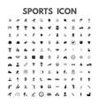 black sports icons set on white vector image