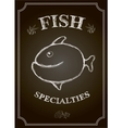 Blackboard fish restaurant menu card vector image vector image