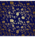 blue and gold floral texture for background vector image