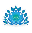 blue colored peacock isolated icon vector image
