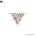 bright fingerprint logo vector image vector image