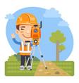 cartoon land surveyor vector image vector image