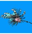 cartoon scorpion fish sea ruff vector image vector image
