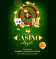 casino gambling games flyer roulette chips dice vector image