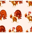 Cock cartoon pattern Funny rooster pattern vector image vector image