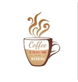 coffe cup with type design vector image