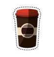 coffee glass drink isolated icon vector image