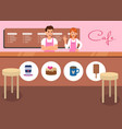coffee shop and cafe snack promotion banner vector image vector image
