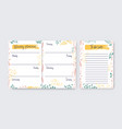 collection vertical weekly planner and to-do vector image vector image