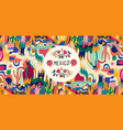 colorful background mexico vector image vector image