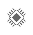 computer chip chalk icon processor memory card vector image