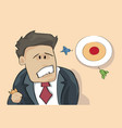 confused business man looking at target aiming vector image vector image