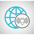 connection concetp globe wifi pin vector image vector image