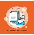 Corporate style branding design thin line vector image