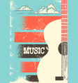 country music poster with musical instrument vector image vector image
