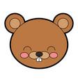 cute beaver cartoon vector image