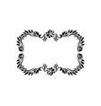 decorative victorian style calligraphic vector image vector image