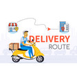 delivery route - colorful cartoon character vector image