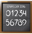 Digital charcoal hand drawn numbers vector image vector image