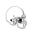 drawing american football helmet in vector image vector image