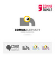 elephant animal concept icon set and logo brand vector image vector image