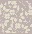 endless pattern with decorative plants and vector image