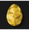 Flat design polygon of golden egg isolated vector image vector image