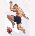 flying knee kick kick boxing vector image vector image