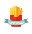 french fries logo vector image