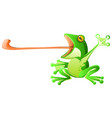 frog tongue cartoon vector image