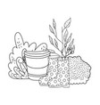 gardener boots rubber with bush and bucket vector image