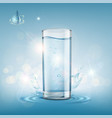 glass with clear water vector image vector image