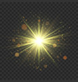 gold glitter star burst with sparkles vector image
