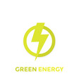 green energy logo icon vector image vector image