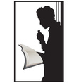 Guy reading vector image vector image